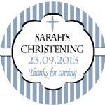 Personalised Boy Christening Sticker Design 3
